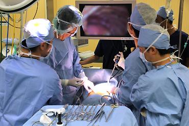 呼吸器外科 術中風景